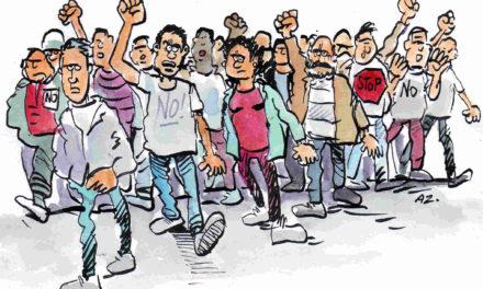 Protestan por apagones