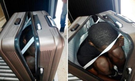 Hallan un inmigrante en una maleta