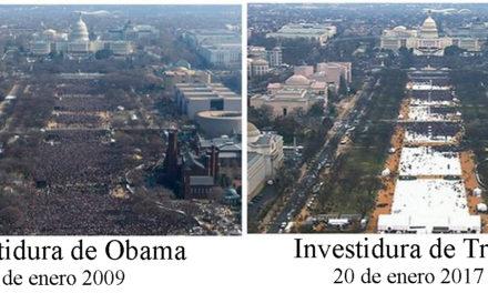 Con menos gente que Obama