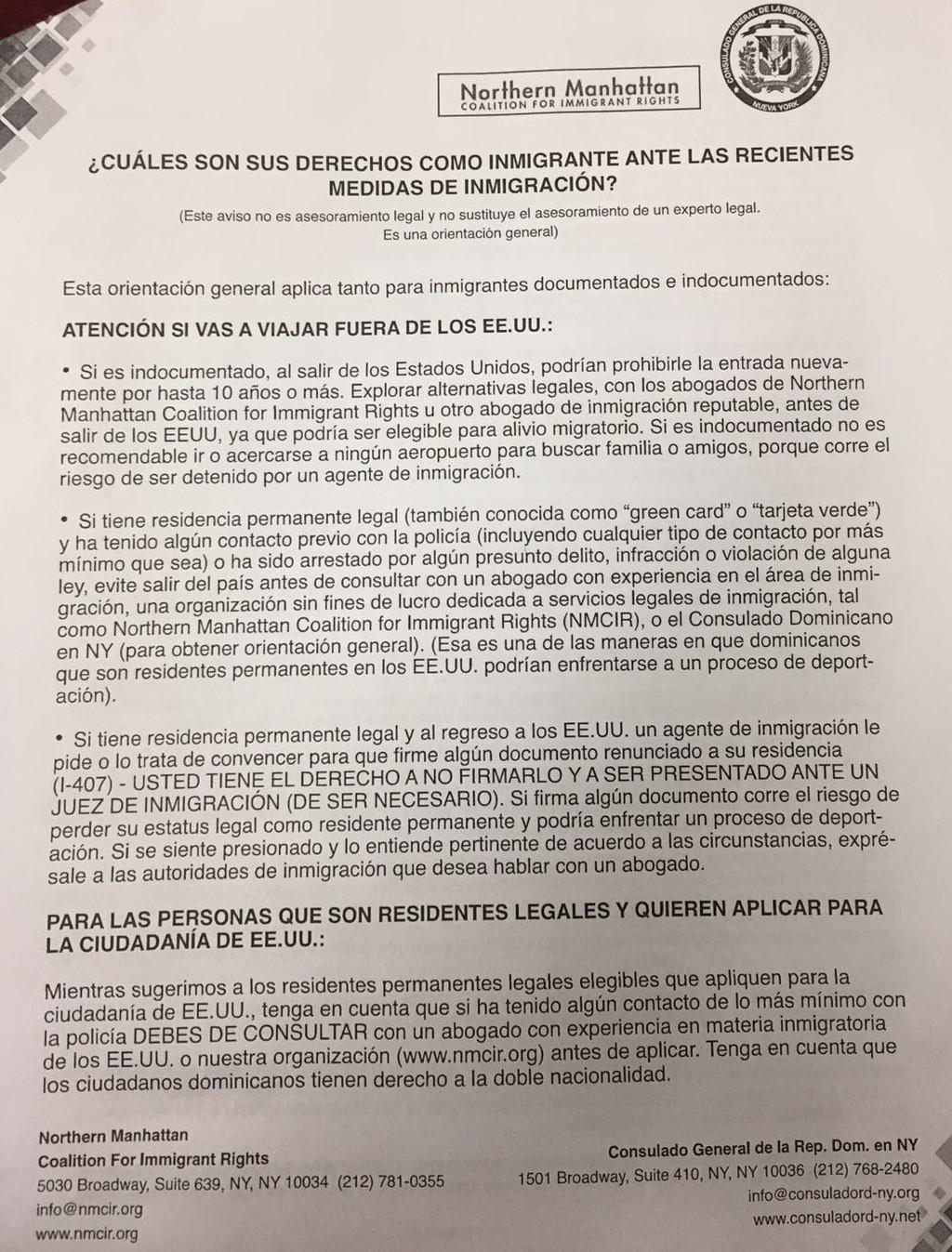 Consulado Dominicano Nuevo York, derechos de los inmigrante, Alcarrizos News Diario Digital