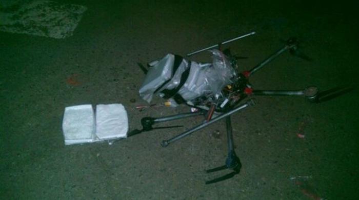 Cae dron que transportaba droga líquida