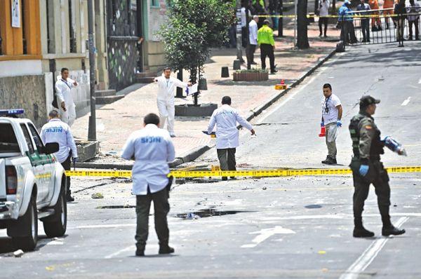 Al menos 31 heridos por explosiones en Bogotá