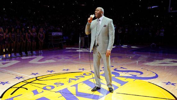 Magic Johnson es el nuevo presidente de operaciones de los Lakers