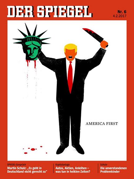 Trump decapita a la libertad: la sugestiva portada de 'Der Spiegel'