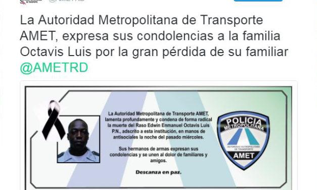 Sepultan agente de Amet baleado por dos delincuentes en Las Palmas de Herrera