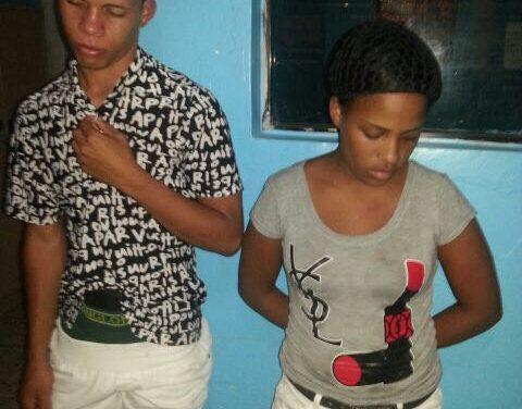 Policía apresa pareja de atracadores en Los Alcarrizos