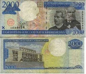 En Monte Plata circulan billetes falsos de RD$2,000