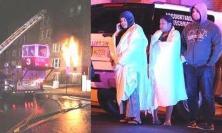 Desalojan 120 personas por fuego en la ciudad de Passaic, Nueva Jersey