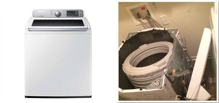 Proconsumidor alerta sobre lavadoras de carga superior SAMSUNG