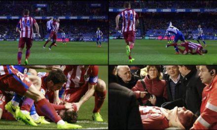 Fernando Torres perdió el conocimiento tras un choque y fue retirado en camilla