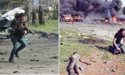 La poderosa imagen de un fotógrafo devastado por la masacre en Alepo