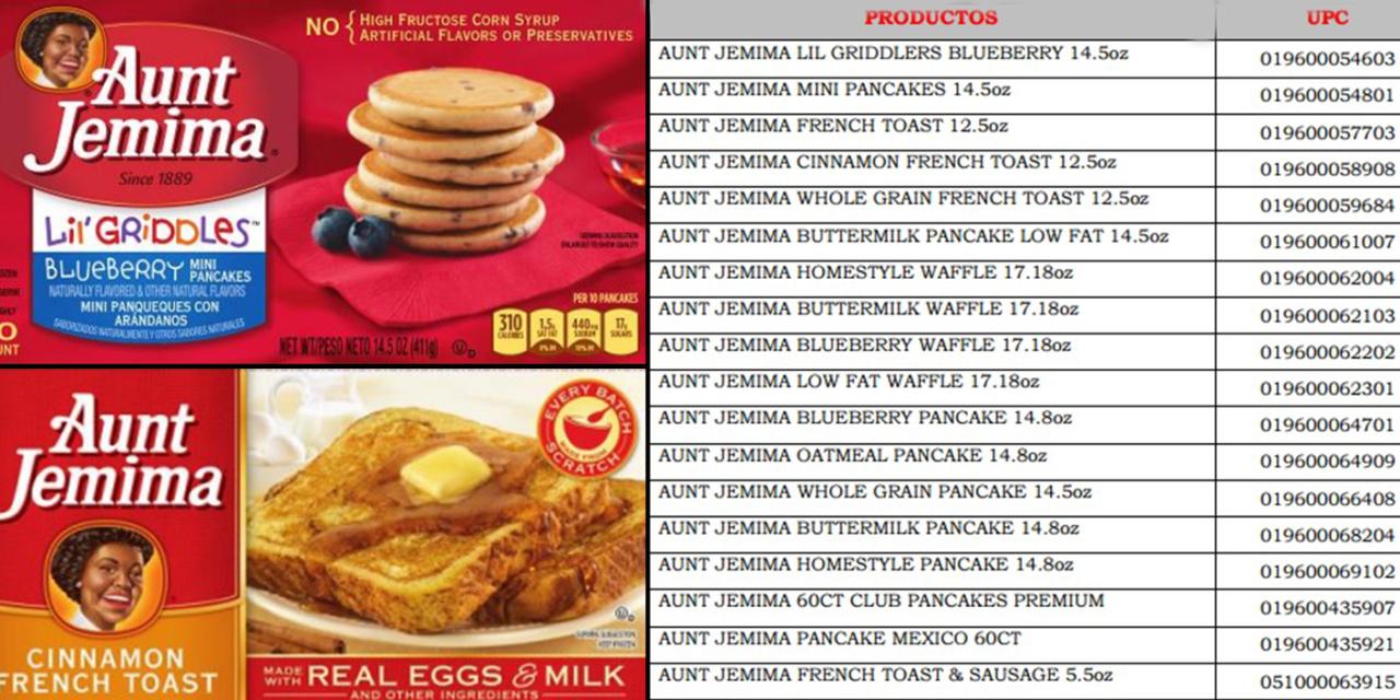 Pro-Consumidor retira del mercado los congelados de los productos Aunt Jemima