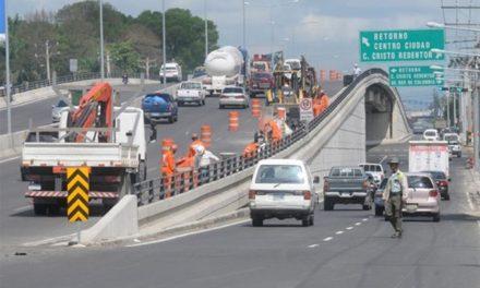 Obras Públicas cerrará por 8 horas túneles, elevados y pasos a desnivel por mantenimiento