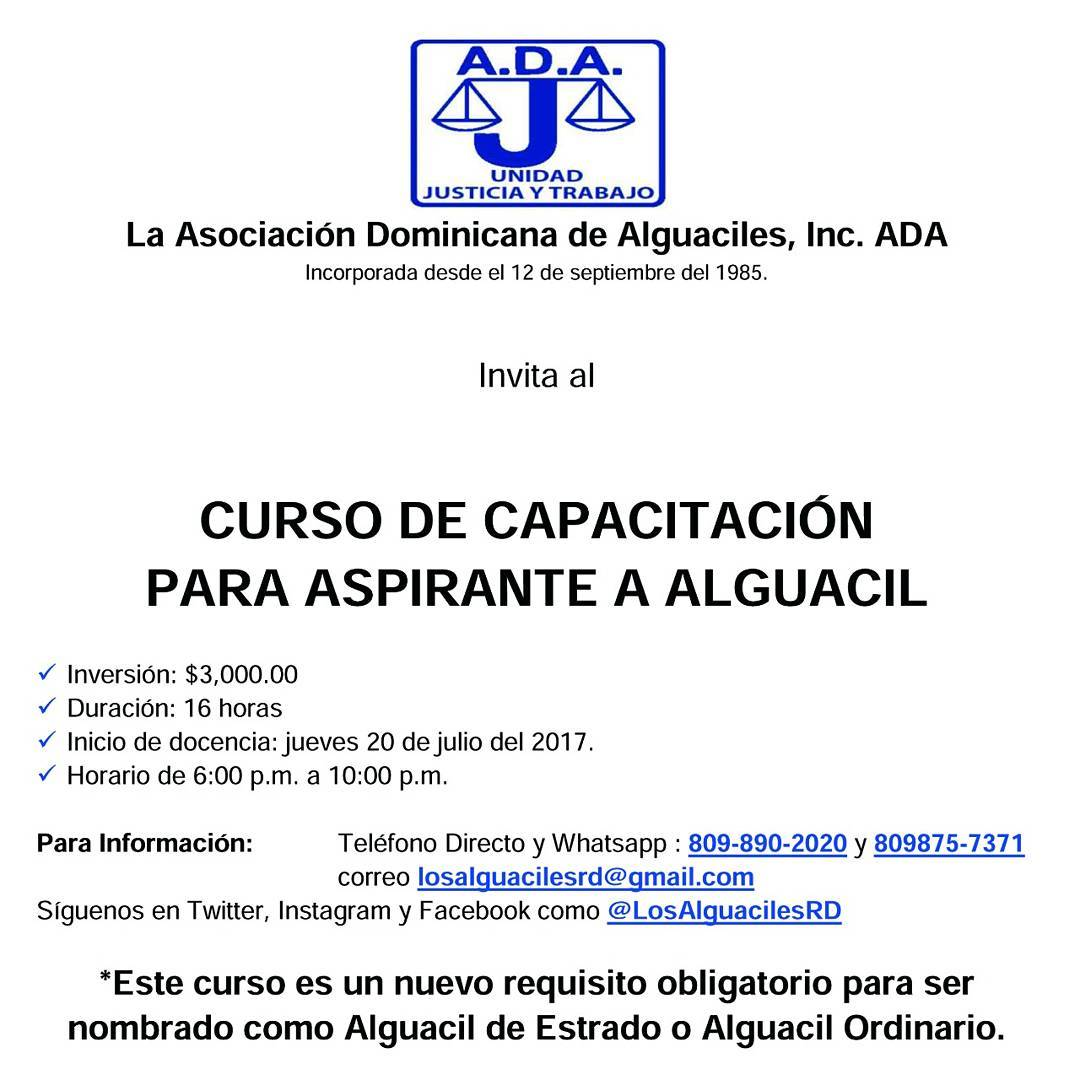 Consejo del Poder Judicial desautoriza curso para aspirantes a alguacil que organizaba la ADA, Alcarrizos News Diario Digital