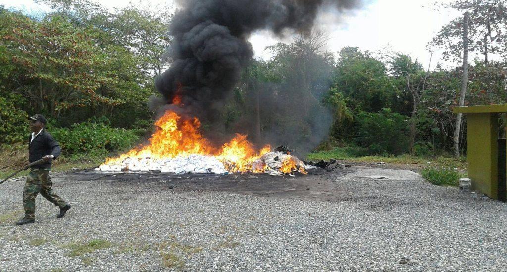 Autoridades incineran 65,947 kilogramos de sustancias prohibidas