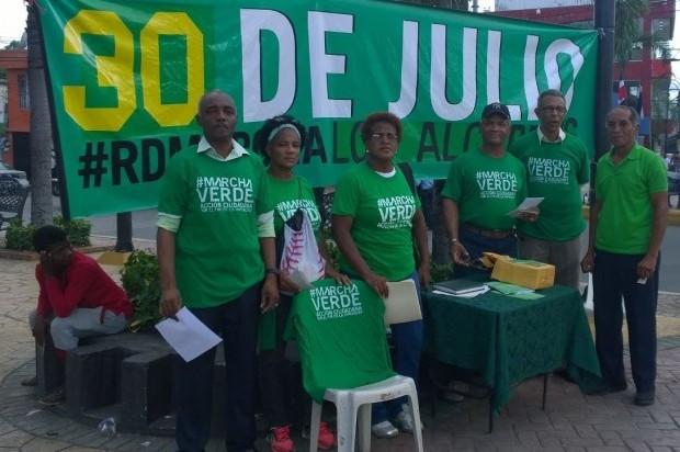 La Marcha Verde se movilizará en Los Alcarrizos el próximo domingo 30, invita a los moradores