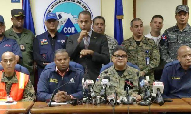 COE mantiene alerta roja en 6 municipios de las provincias Montecristi y Duarte