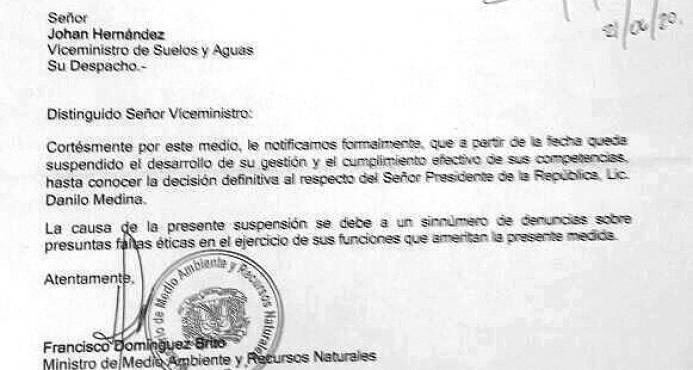Viceministro suspendido todavía cobra RD$200,000 en Medio Ambiente, Alcarrizos News Diario Digital