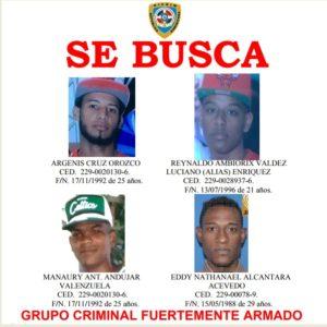 Policía Nacional identifica a cuatro hombres vinculados a muerte de dos oficiales en Los Alcarrizos, Alcarrizos News Diario Digital