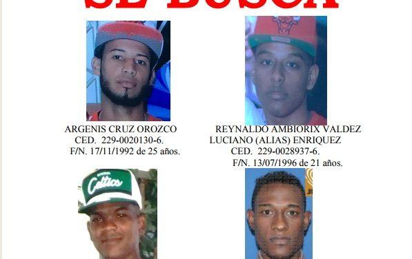 Policía Nacional identifica a cuatro hombres vinculados a muerte de dos oficiales en Los Alcarrizos