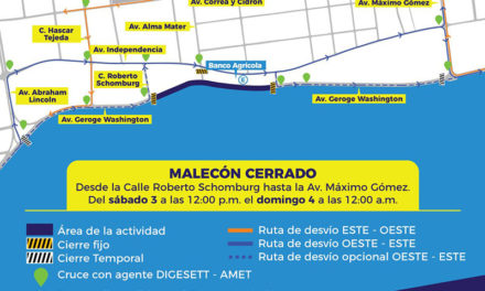 Cerrarán tramo del Malecón este fin de semana por celebración Semana de la Juventud