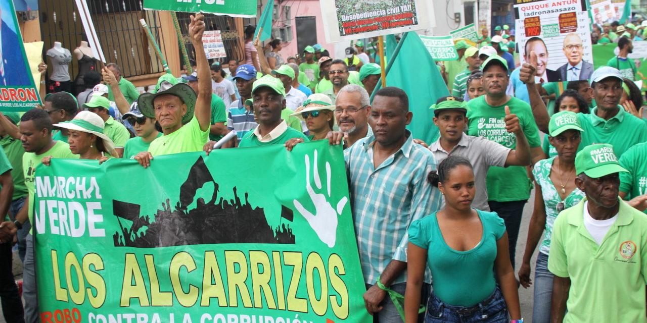 Marcha Verde Alcarrizos llama unidad por alza combustibles