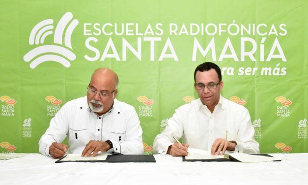 MINERD y las Escuelas Radiofónicas Santa María firman acuerdo de cooperación