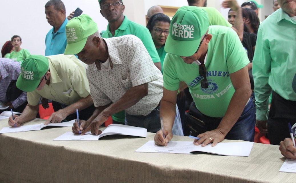Movimiento Marcha Verde convoca sectores a firmar Compromiso por el Fin de la Impunidad