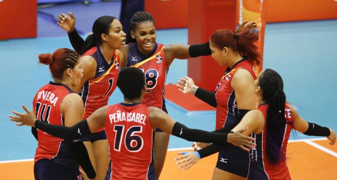 RD consigue primer triunfo al vencer 3-0 a Kazajistán en Mundial de Voleibol