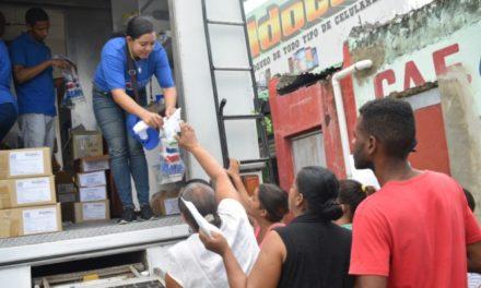 Plan Social realiza operativo médico y entrega enseres del hogar en Los Alcarrizos
