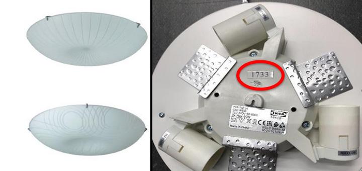 Proconsumidor llama a devolver lámparas de Ikea que presentan riesgos de caída