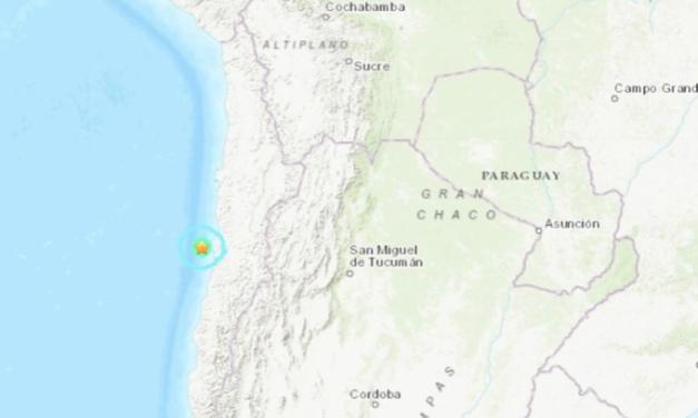 Sismo de magnitud 5,5 en las costas de Chile