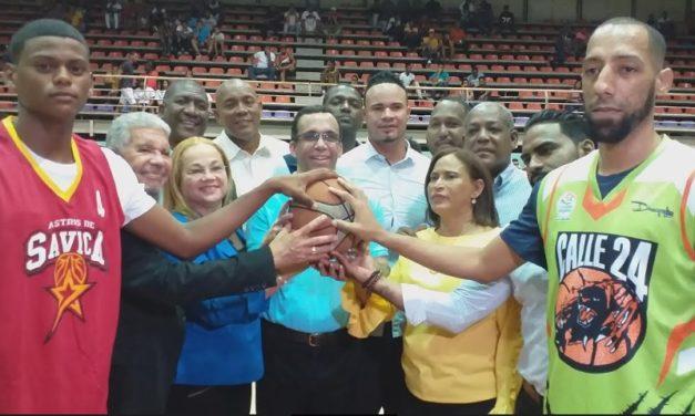 Equipo La 24 empieza arriba torneo basket superior Los Alcarrizos