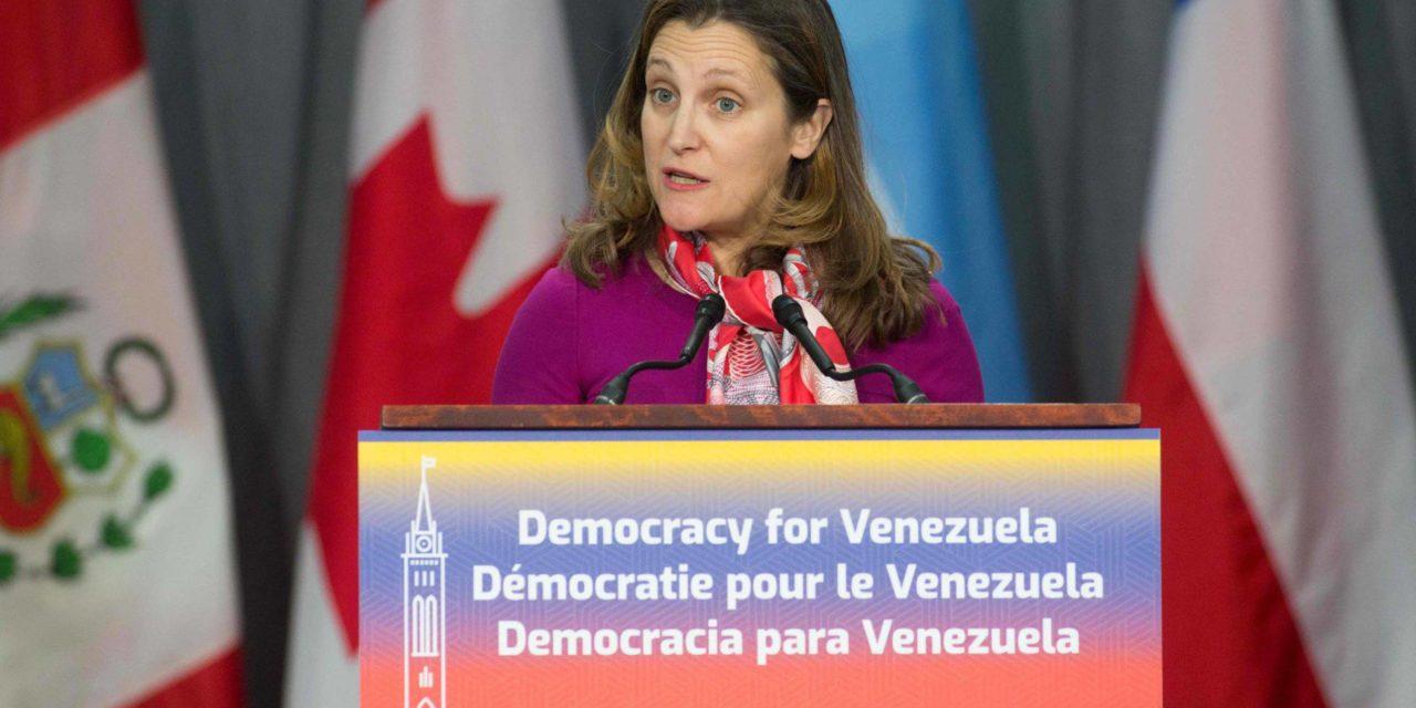 Canadá suspende las operaciones diplomáticas de su embajada en Venezuela