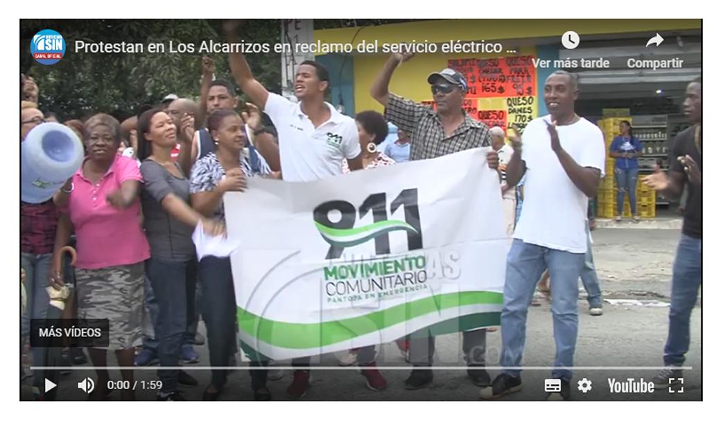 Moradores de Pantoja protestan en reclamo del servicio eléctrico y agua potable