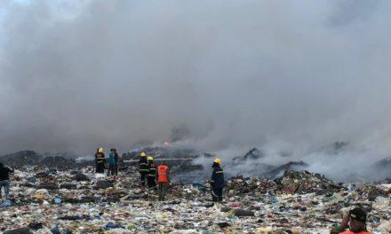 """Ante """"agresión"""" a la salud que supone el incendio de Duquesa, sectores claman por solución definitiva"""