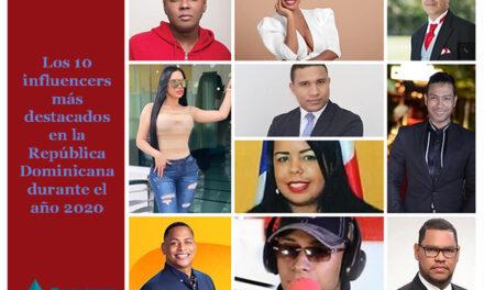 Los diez comunicadores digitales más influyentes en República Dominicana durante el año 2020