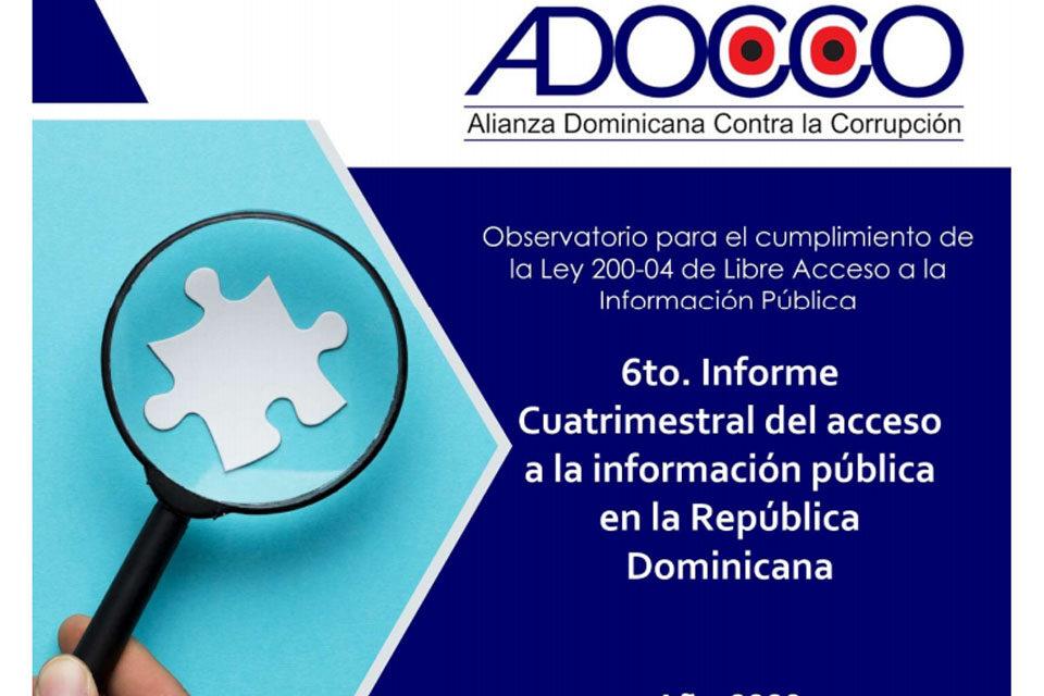 ADOCCO presenta 6to. Informe de Cumplimiento de la Ley de Libre Acceso a la Información Pública