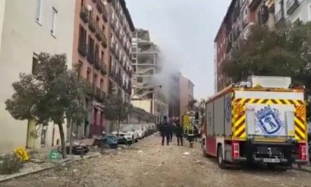 Dos fallecidos y varios heridos por fuerte explosión en el centro de Madrid