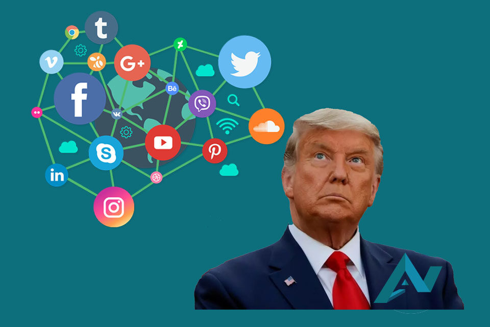 Plataformas sociales le bloquean las cuentas al presidente Donald Trump