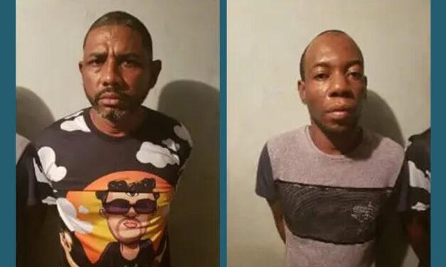 Policía Nacional captura dos hombres
