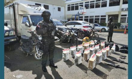 DNCD ocupa drogas y armas en SPM