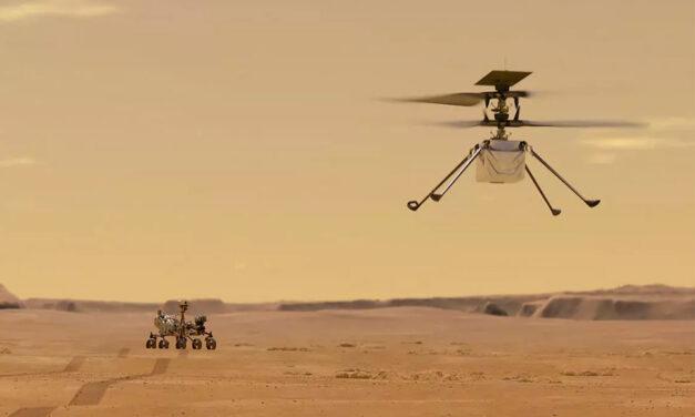 Primer vuelo del Ingenuity en Marte