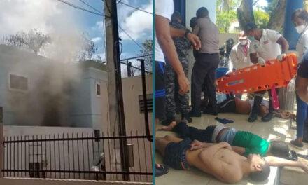 Reclusos incendian cárcel de La Romana