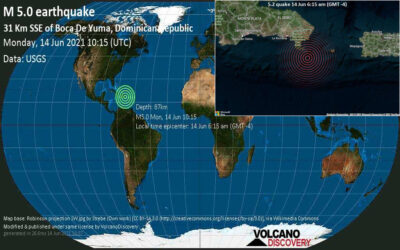 Se registra temblor de tierra en isla Saona